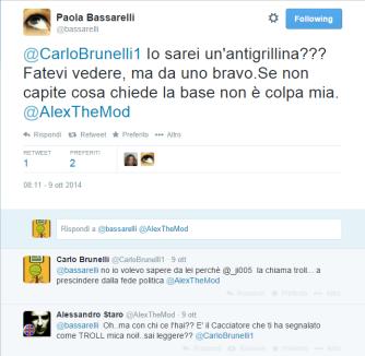 Tweet Paola Bassarelli