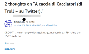 twitter commento su wordpress