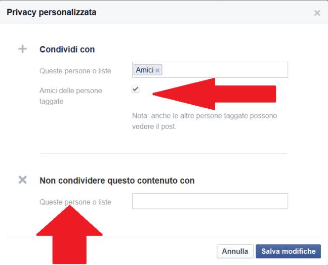 restrizioni privacy