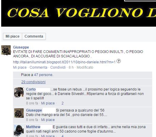Giuseppe caputo età Pino Daniele Mango